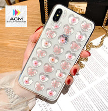 Load image into Gallery viewer, Phone Case For iPhone 6 7 Cute 3D Love Heart Glitter Bling Soft Back Cover For iPhone 6 6S Plus 7 8 X XR Xs Max Cover - A&M Executive Services LLC