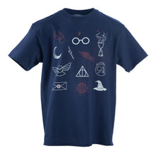 Load image into Gallery viewer, Youth Harry Potter Magical Objects Crew Neck Short Sleeve T shirt