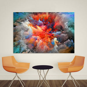 Modern Abstract Canvas Art Painting Colorful Clouds Wall Pictures For Living Room Home Decor Frameless - A&M Executive Services LLC