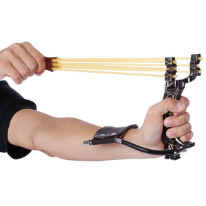 Powerful Slingshot Rubber Bands Wrist Catapult Outdoor Equipment - A&M Executive Services LLC