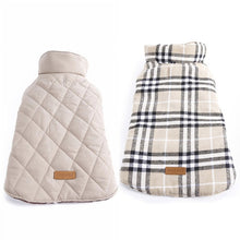 Load image into Gallery viewer, Waterproof Reversible Dog Jacket Designer Warm Plaid Winter Dog Coats Pet Clothes Elastic Small to Large Dog Clothes Winter - A&M Executive Services LLC