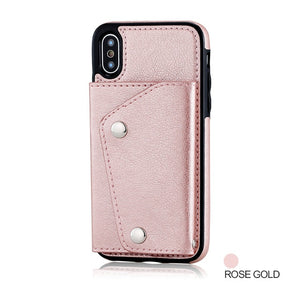 Case For iPhone XS Max XR 7 8 Plus Case Wallet Flip Cover Card Leather Phone Case Back Fundas For iPhone 6 6s Plus X 10 - A&M Executive Services LLC