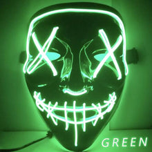 Load image into Gallery viewer, EL Light Mask Up Funny Mask from The Purge Election Year Great for Festival Cosplay Halloween Costume - A&M Executive Services LLC