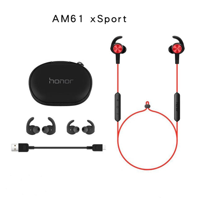 Original Huawei Honor xSport Bluetooth Earphone AM61 IPX5 Waterproof Music Mic Control Wireless Headset For Xiaomi Android IOS - A&M Executive Services LLC