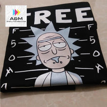 Load image into Gallery viewer, Men's high quality T-shirt Short Sleeve Cotton Crewneck Loose Rick And Morty Printed Men Tshirt - A&M Executive Services LLC