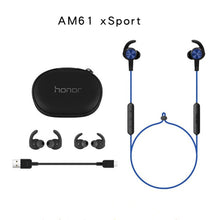 Load image into Gallery viewer, Original Huawei Honor xSport Bluetooth Earphone AM61 IPX5 Waterproof Music Mic Control Wireless Headset For Xiaomi Android IOS - A&M Executive Services LLC