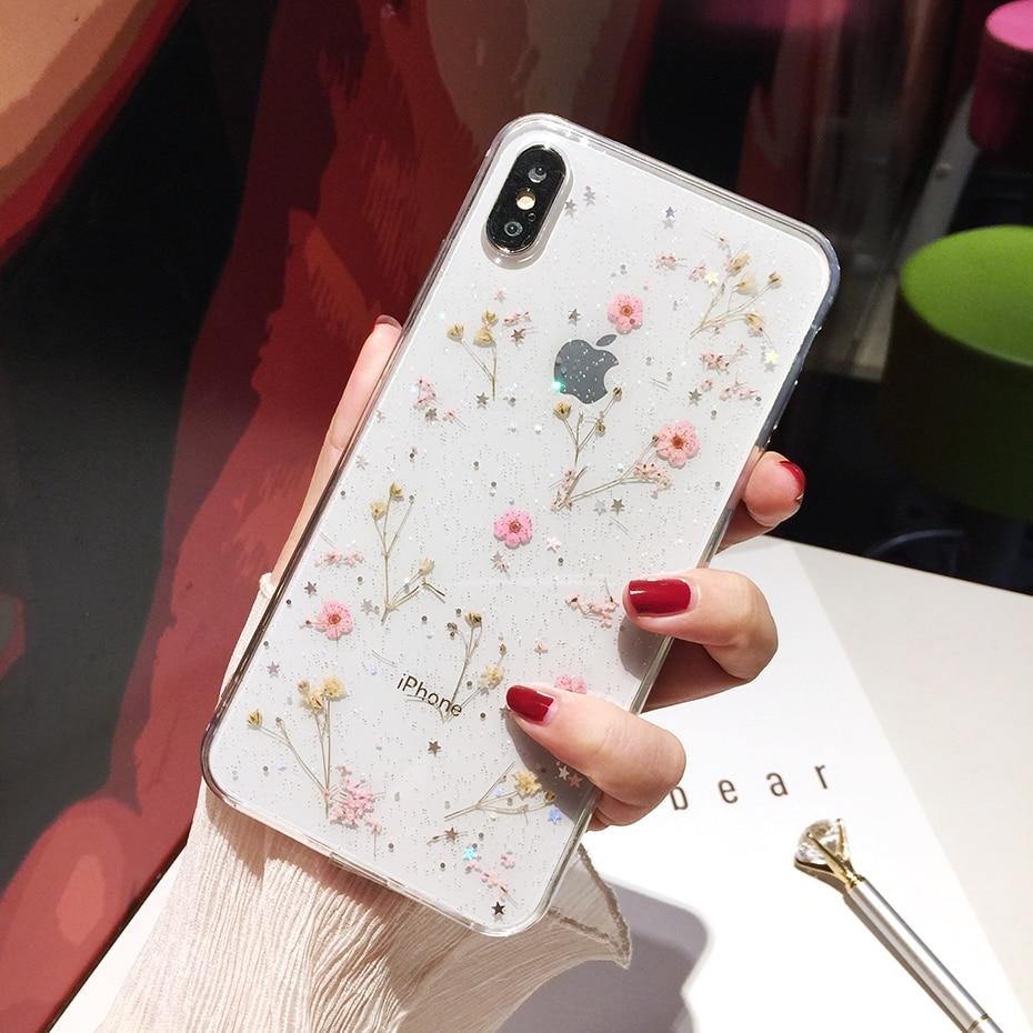 Dainty Pink Pressed Flowers iPhone Case - A&M Executive Services LLC