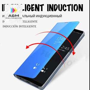 Flip Standing Case For Huawei P20 Lite P10 P30 Mate 10 Pro 20 20X Mirror Cases For Huawei - A&M Executive Services LLC