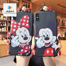 Load image into Gallery viewer, Cartoon Classic Anime Disneys Case For iPhone Xs MAX Xr X 7 8plus 6 6splus Back Cover Papa Mickey Minnie soft TPU Phone Cases - A&M Executive Services LLC