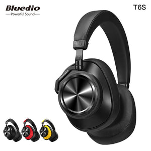 Bluedio T6S Bluetooth Headphones Active Noise Cancelling Wireless Headset For Phones And Music With Voice Control - A&M Executive Services LLC