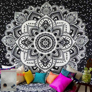 150*200cm  Mandala Tapestry Wall Hanging Witchcraft Hippie Beach Throw Rug Moon Travel Boho Bohemian Home Art Psychedelic Tapestries Decor - A&M Executive Services LLC