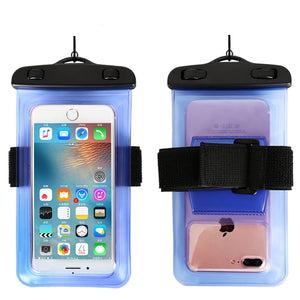 6.0 Universal Waterproof Phone Case Arm Band Bag For iPhone X XS Max 6 7 8 Plus Xiaomi mi6 Huawei Mate 20 Swim Water proof Cover - A&M Executive Services LLC