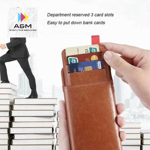 Haissky Leather Wallet Phone Case For iPhone X 6 6s 7 8 Plus Case Luxury Pull Type Card Slots Back Cover For iPhone X 10 8 Plus - A&M Executive Services LLC