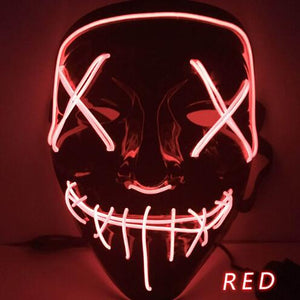 EL Light Mask Up Funny Mask from The Purge Election Year Great for Festival Cosplay Halloween Costume - A&M Executive Services LLC