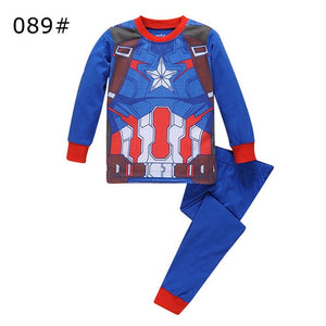 Toddler Boy Captain America Pyjamas Set 2pcs Baby Marvel Sleepwear Children Iron Man Nightwear Superhero Cosplay Suit - A&M Executive Services LLC