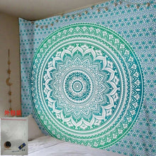 Load image into Gallery viewer, 150*200cm  Mandala Tapestry Wall Hanging Witchcraft Hippie Beach Throw Rug Moon Travel Boho Bohemian Home Art Psychedelic Tapestries Decor - A&M Executive Services LLC