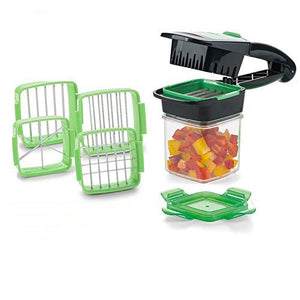 Magic Slicer Nicer Chopper Dicer Quick Set 5 In 1 Vegetables Fruits Cutter Food Multi-Function Salad Onion Vegetable Cutter - A&M Executive Services LLC