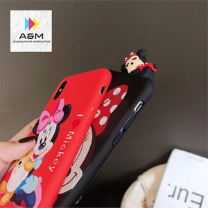 Cartoon Classic Anime Disneys Case For iPhone Xs MAX Xr X 7 8plus 6 6splus Back Cover Papa Mickey Minnie soft TPU Phone Cases - A&M Executive Services LLC