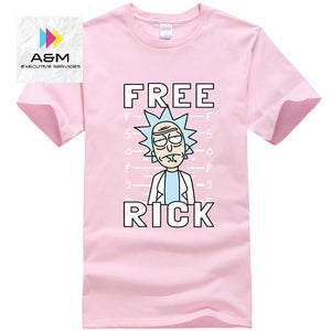 Men's high quality T-shirt Short Sleeve Cotton Crewneck Loose Rick And Morty Printed Men Tshirt - A&M Executive Services LLC