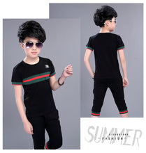 Load image into Gallery viewer, Casual Active Boys Clothes Set Summer Girls Teenage T Shirt Shorts Children Suit - A&M Executive Services LLC