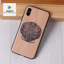 Load image into Gallery viewer, Imitative Wood Cover For 6 7 7Plus 8 8Plus X XS Max 3D Relief Elephone Vintage Style Phone Cases Cover Capa Fundas - A&M Executive Services LLC