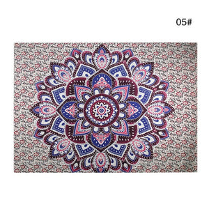 Bohemian Mandala Tapestry Sandy Beach Indian Picnic Rug Throw Travel Mattress Blanket Camping Tent Wall Decor Hanging Tapestries - A&M Executive Services LLC