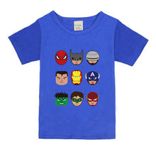 Load image into Gallery viewer, Kids Boys T Shirts Marvel Iron Man Spiderman Batman Superhero Print Children Summer Cotton Shorts Baby Boys Girls tops T shirt - A&M Executive Services LLC