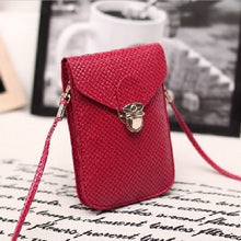 Load image into Gallery viewer, Fluorescence Colors Women Mobile Phone Bags Fashion Small Change Purse Female Woven Buckle Shoulder Bags Mini Messenger Bag - A&M Executive Services LLC