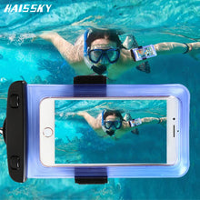Load image into Gallery viewer, 6.0 Universal Waterproof Phone Case Arm Band Bag For iPhone X XS Max 6 7 8 Plus Xiaomi mi6 Huawei Mate 20 Swim Water proof Cover - A&M Executive Services LLC