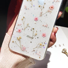 Load image into Gallery viewer, Dainty Pink Pressed Flowers iPhone Case - A&M Executive Services LLC