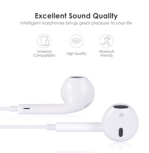 Stereo Earphone in line control with mic Headset 3.5mm In Ear Earbuds For iPhone - A&M Executive Services LLC