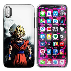 Silicone Case Cover for iPhone XS X Max XR 7 8 6 6s Plus 5 5S SE 5C 7Plus 7+ Phone Cases Coque Dragon Ball Z Anime Goku Cartoon - A&M Executive Services LLC