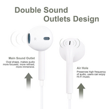 Load image into Gallery viewer, Stereo Earphone in line control with mic Headset 3.5mm In Ear Earbuds For iPhone - A&M Executive Services LLC