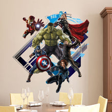 Load image into Gallery viewer, Super Hero Avengers Hulk Peel and Stick Wall Sticker Kids Room Stickers Cartoon Decals Home Decor Wallpaper Poster Y007 - A&M Executive Services LLC