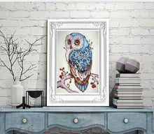 "Load image into Gallery viewer, Full Drill Square Diamond 5D DIY Diamond Painting""Cute owl""Diamond Embroidery Cross Stitch Rhinestone Mosaic Painting - A&M Executive Services LLC"