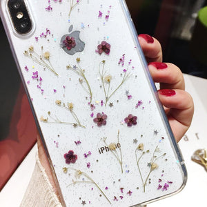 Viola Violet Pressed Flowers iPhone Case - A&M Executive Services LLC