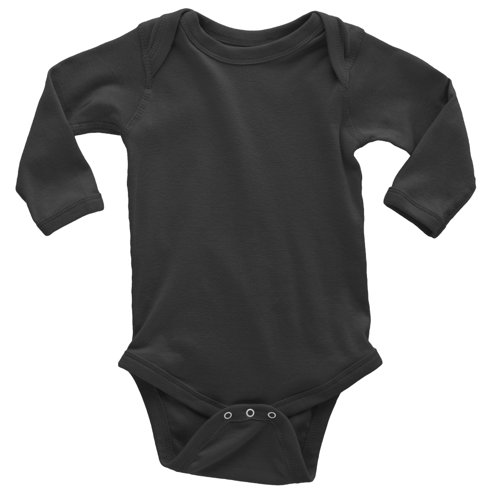 Long Sleeve Baby Bodysuit-100% Cotton-Design Included - A&M Executive Services LLC