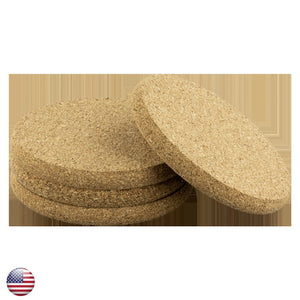 Round Cork Coaster- 4 Piece Set- Design Included - A&M Executive Services LLC