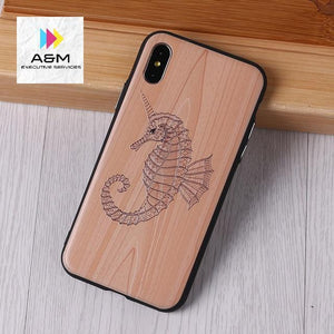 Imitative Wood Cover For 6 7 7Plus 8 8Plus X XS Max 3D Relief Elephone Vintage Style Phone Cases Cover Capa Fundas - A&M Executive Services LLC