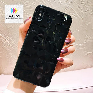 Black Diamond Texture iPhone Case - A&M Executive Services LLC