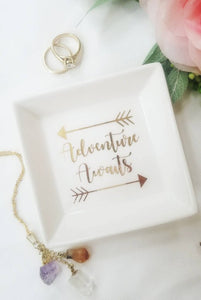 Personalized Ring Dish / Ring Holder / Customized - A&M Executive Services LLC