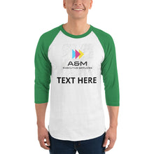 Load image into Gallery viewer, 3/4 sleeve raglan shirt - A&M Executive Services LLC