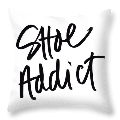 Shoe Addict Throw Pillow - A&M Executive Services LLC