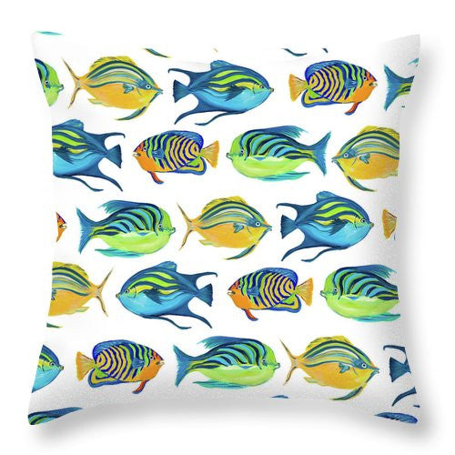 Fishy Pattern Throw Pillow - A&M Executive Services LLC