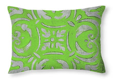 Load image into Gallery viewer, Bright Green Mosaic Throw Pillow - A&M Executive Services LLC