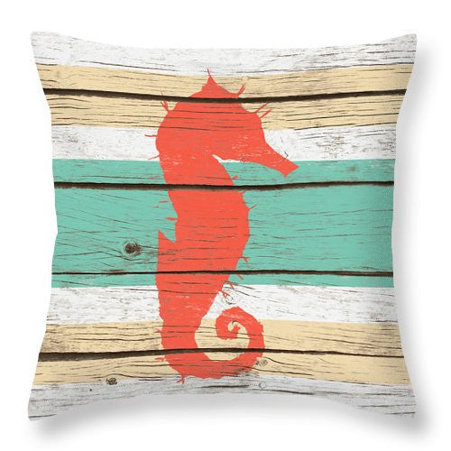 Striped Sea Creature I Throw Pillow - A&M Executive Services LLC