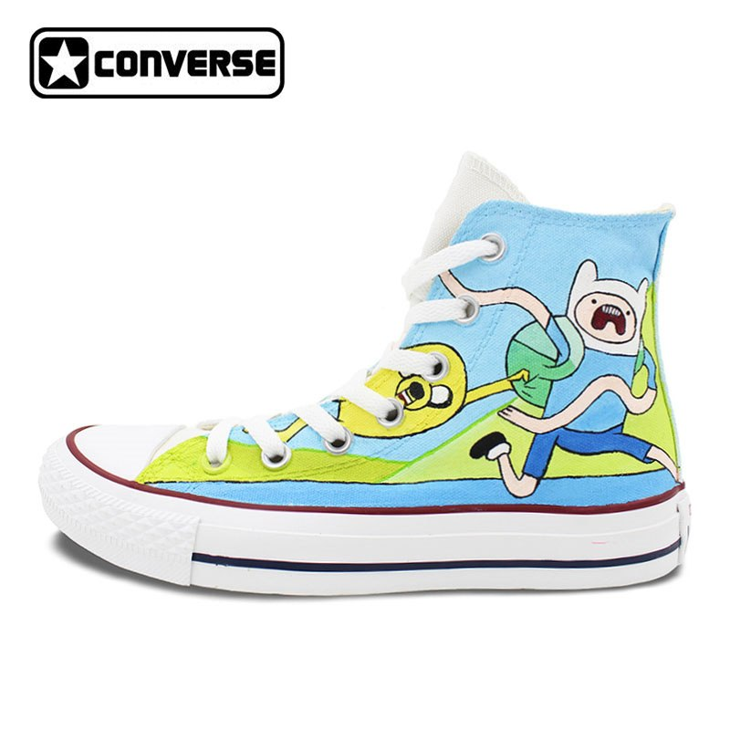 ad13bd442798 Sneakers Converse All Star Men Women Shoes Adventure Time Custom Design  Hand Painted Shoes High Top