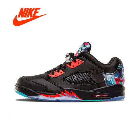 05855077d0f401 Original New Arrival Official Nike Air Jordan 5 Retro Low CNY Chinese Kite  Men s Basketball Shoes