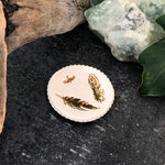Golden Feathers Ceramic Ring or Altar dish