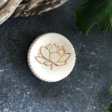 Gold Lotus Ceramic Ring or Altar dish